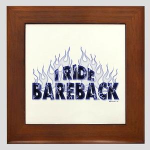 I ride Bareback Framed Tile