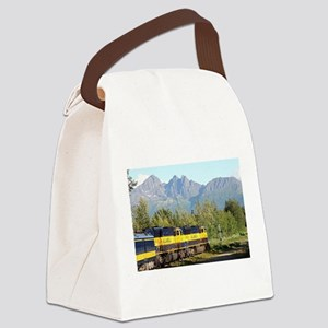 Alaska Railroad locomotive engine Canvas Lunch Bag