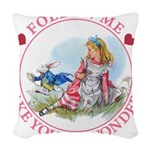 ALICE_follow me MJ PINK 2 copy Woven Throw Pil