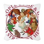 ALICE_people come and go2_RED copy Woven Throw