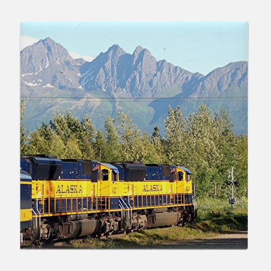 Alaska Railroad locomotive engine & m Tile Coaster