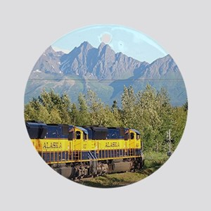 Alaska Railroad locomotive engine Ornament (Round)
