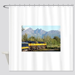 Alaska Railroad locomotive engine & Shower Curtain