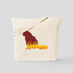 Angora Flames Tote Bag