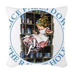 ALICE_DOWN THE RABBIT HOLE_BLUE Woven Throw Pi