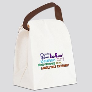 Awesome Words Canvas Lunch Bag