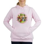 alice too thin_pink copy Women's Hooded Sweats