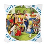 alice too thin_blue copy Woven Throw Pillow