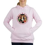 ALICE_CRAZY_RED copy Women's Hooded Sweatshirt