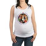 ALICE_CRAZY_PURPLE copy Maternity Tank Top