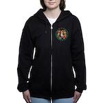 ALICE_CRAZY_GREEN copy Women's Zip Hoodie