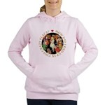 ALICE_CRAZY_GOLD copy Women's Hooded Sweatshir