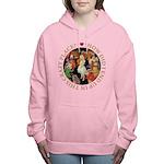 ALICE_CRAZY_GOLD copy Women's Hooded Sweatshir