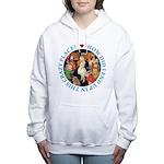 ALICE_CRAZY_BLUE copy Women's Hooded Sweatshir