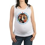 ALICE_CRAZY_BLUE copy Maternity Tank Top