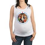 ALICE_CRAZY_BLUE copy Maternity Tank Top