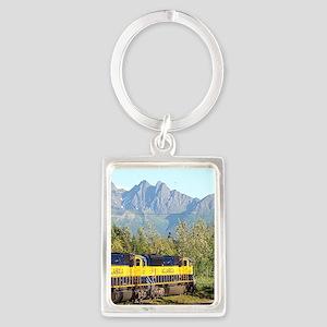 Alaska Railroad locomotive engi Keychains