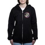 ALICE_CATERPILLAR_PINK_3 copy Women's Zip Hood