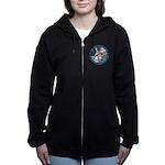 ALICE_CATERPILLAR_BLUE_3 copy Women's Zip Hood