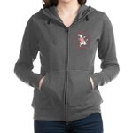 alice RABBIT im late red copy Women's Zip Hood