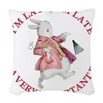 alice RABBIT im late red copy Woven Throw Pill