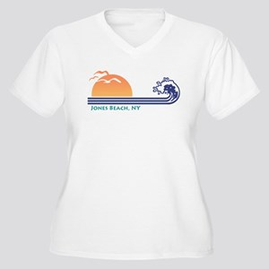 Jones Beach NY Women's Plus Size V-Neck T-Shirt