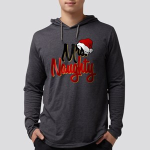 Christmas Mrs Naughty Mens Hooded Shirt