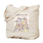 A History Of Rock Cov Tote Bag