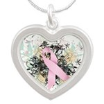 Shop for a Cure Silver Heart Necklace