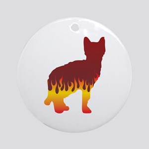 Sokoke Flames Ornament (Round)
