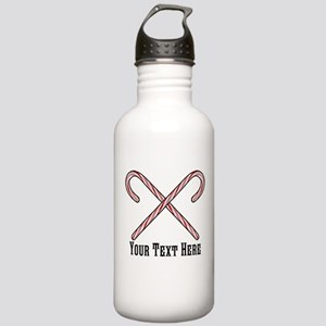 Candy Canes Personaliz Stainless Water Bottle 1.0L