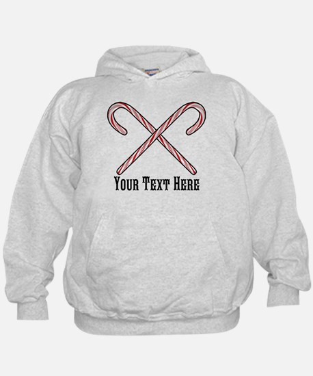 Candy Canes Personalized Hoodie