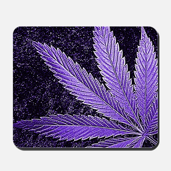 Purple Cannabis Leaf Mousepad