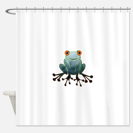 Friendly Frog Shower Curtain