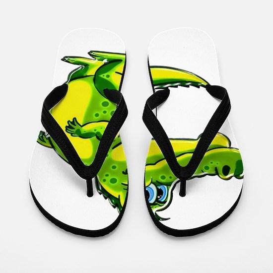 Flirting Crocodile Flip Flops