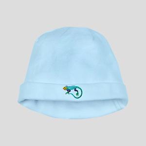 Turquoise Polka Dot Fiesta Lizard baby hat