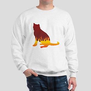 Blue Flames Sweatshirt