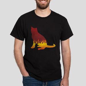 Blue Flames Dark T-Shirt