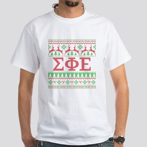 Sigma Phi Epsilon Ugly Christmas White T-Shirt