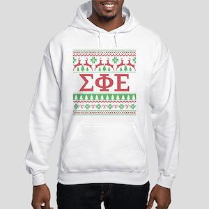 Sigma Phi Epsilon Ugly Christmas Hooded Sweatshirt