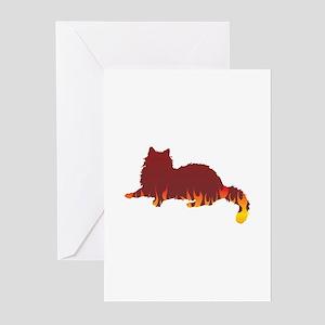 Ragdoll Flames Greeting Cards (Pk of 10)