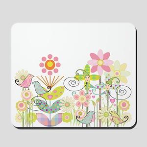 Baby Bird Garden Mousepad