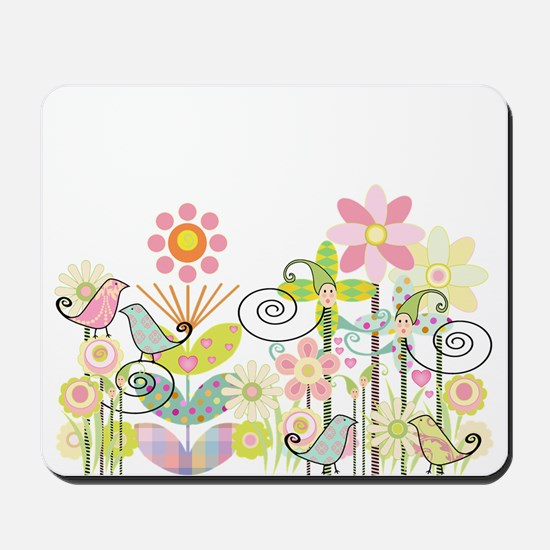Baby Bird Garden Mousepad