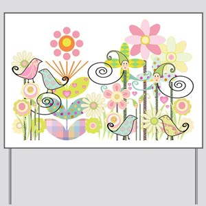 Baby Bird Garden Yard Sign