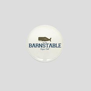 Barnstable - Cape Cod - Whale Design. Mini Button