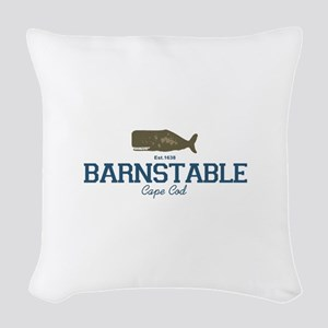 Barnstable - Cape Cod - Whale Woven Throw Pillow