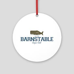 Barnstable - Cape Cod - Whale De Ornament (Round)