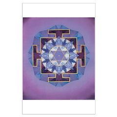 Saturn Yantra Mandala Poster Posters