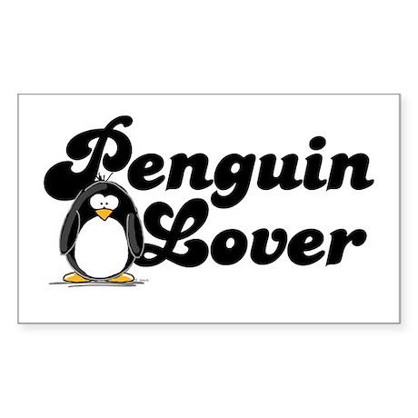 Penguin Lover Rectangle Sticker