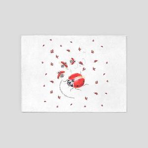Ladybug, ladybug fly away 5'x7'Area Rug